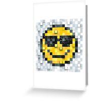 Pixel Smiley 2 Greeting Card