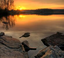 Sunset on the Lake by Michael Mill