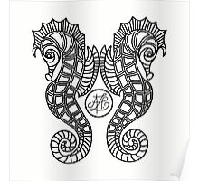 Deluxe Seahorses Poster