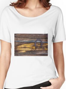 Old wooden wall Women's Relaxed Fit T-Shirt