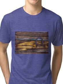 Old wooden wall Tri-blend T-Shirt