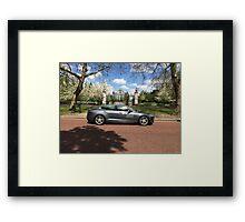 Tesla Model S in Regent's Park London Framed Print