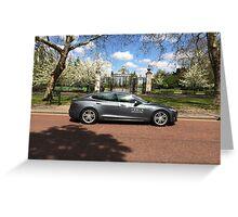 Tesla Model S in Regent's Park London Greeting Card