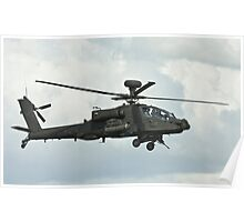 AH1 Apache Attack Helicopter Poster