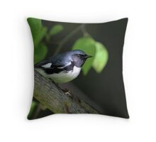 Whats Black And  White and Blue All Over? Throw Pillow