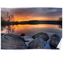 Sunset on Chambers Lake Poster