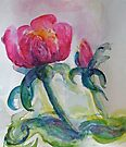 Linda's Rose #6 watercolour by CheyAnne Sexton
