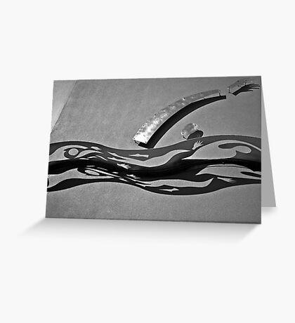 Metal Sculpture Greeting Card