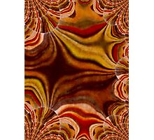 abstract stripes in shades of brown Photographic Print