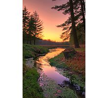 Sunset on a Remote Forest Lake Photographic Print