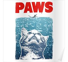 Cat meow paws jaws  Poster
