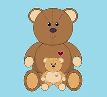 TWO TEDDY BEARS #2 by Jean Gregory  Evans