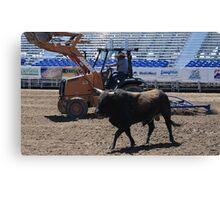 Work'n the Bull...And Dirt.... Canvas Print
