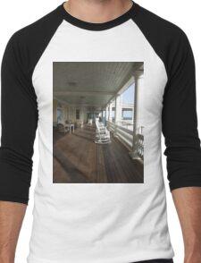ocean house porch 2011 Men's Baseball ¾ T-Shirt