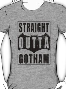 Straight Outta Gotham (Black) T-Shirt