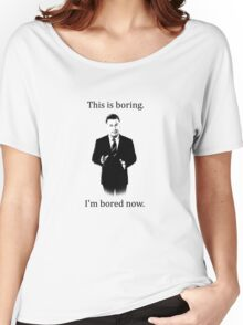 Jack Donaghy is bored now. Women's Relaxed Fit T-Shirt