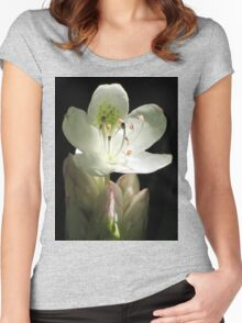 Illuminated Rhododendron Women's Fitted Scoop T-Shirt