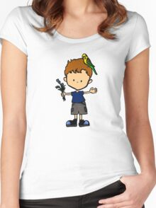 Budgie Boy N Women's Fitted Scoop T-Shirt