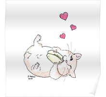 Hamsters Love Tiny Burritos Poster
