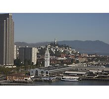 Coit Tower and the Embarcadero ~ San Francisco Photographic Print