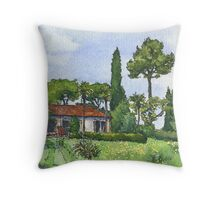 Spring in the Italian Countryside Throw Pillow