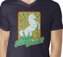 Just Horsing Around Mens V-Neck T-Shirt