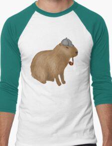 Sherlock capybara Men's Baseball ¾ T-Shirt