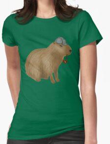 Sherlock capybara Womens Fitted T-Shirt