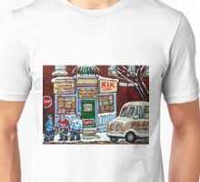 HOCKEY ART PAINTINGS MONTREAL DEPANNEUR BEST CANADIAN PAINTINGS Unisex T-Shirt