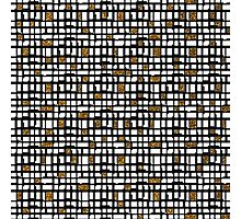 Abstract black gold faux glitter shapes pattern  Photographic Print