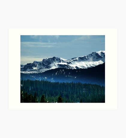 Strathcona Park Mountains Art Print