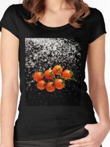 Cherry Tomato Splash 1 Women's Fitted Scoop T-Shirt