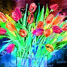 Bold Tulips by arline wagner