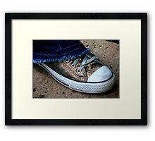 #34   Golden Chucks Framed Print