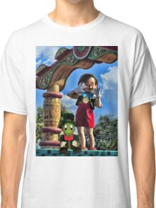 PINOCCHIO AND JIMMY CRICKET (VERSION THREE)(A FAVORITE MEMORY OF MINE) PICTURES-CARDS-PILLOWS-TOTE BAGS-ECT.. Classic T-Shirt