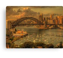 Natures Textures - Moods Of A City - The HDR Experience Canvas Print