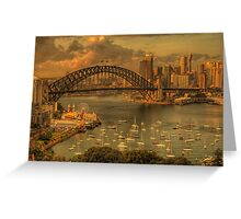 Natures Textures - Moods Of A City - The HDR Experience Greeting Card