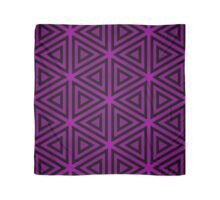 Black Triangles on a Purple Field Scarf