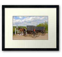 Horse & Buggy Parking Only  Framed Print