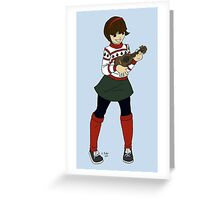 Holiday Ukulele Greeting Card