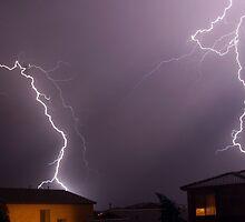 Lightning neighborhood - Queen Creek, AZ by Lindsey Schussman