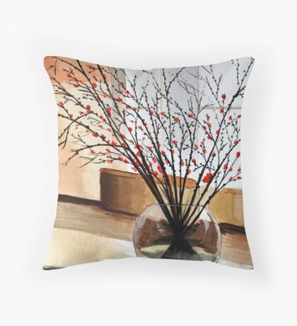 Glass Vase Throw Pillow