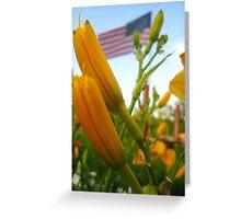 Blooming Patriot Greeting Card