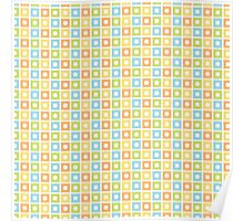 Colourful Squares I Poster