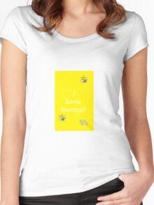 I Love Honey! Women's Fitted Scoop T-Shirt