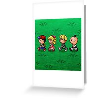 Earthbound Guys Greeting Card