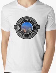 Geometric Tokyo Cityscape  Mens V-Neck T-Shirt