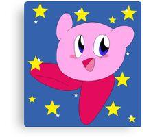 Starry Kirby Canvas Print