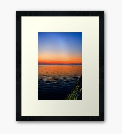 Volcanic Sunset Framed Print