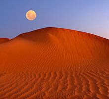 Moon at Sunrise - Perry Dunes by Hans Kawitzki
